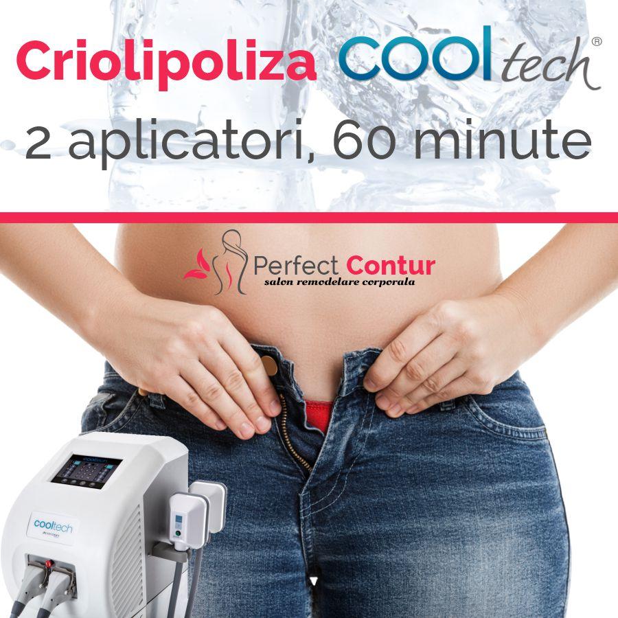 sedinta criolipoliza cooltech 2 aplicatori 60 minute