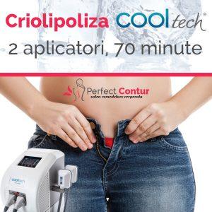 sedinta criolipoliza cooltech 2 aplicatori 70 minute